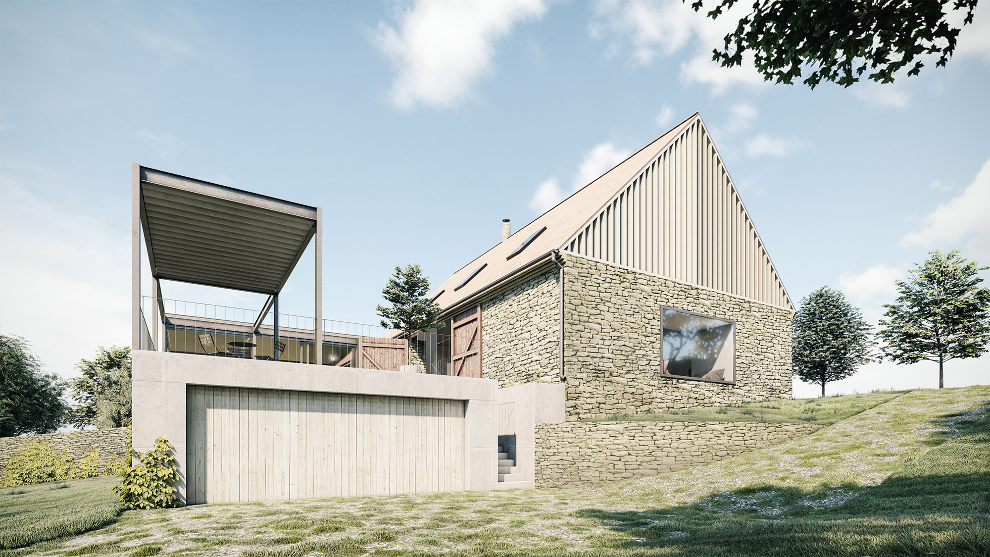 Zavoral Architekt Adaptace stodoly na RD, Říkovice u Litomyšle